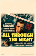 "Movie Posters:Film Noir, All Through the Night (Warner Brothers, 1942). Window Card (14"" X22"").. ..."