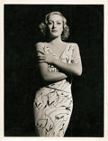 "Movie Posters:Miscellaneous, Joan Crawford by George Hurrell (MGM, 1930s). Portrait Photo (10"" X 13"").. ..."