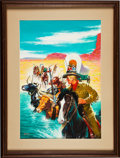 Original Comic Art:Covers, Edward Moritz Classics Illustrated #112 Kit Carson(Second Version) Painted Cover Original...