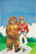 Original Comic Art:Covers, L. B. Cole Classics Illustrated Junior #567 The BearskinSoldier Painted Cover Original Art (Gilberton...
