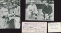 "Baseball Collectibles:Others, ""Smokey"" Joe Wood Signed Memorabilia Lot...."