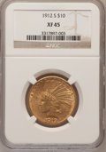 Indian Eagles: , 1912-S $10 XF45 NGC. NGC Census: (25/771). PCGS Population(26/654). Mintage: 300,000. Numismedia Wsl. Price for problem fr...