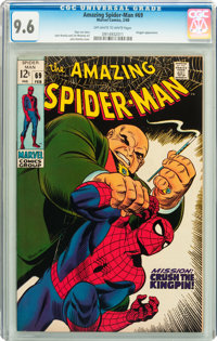 The Amazing Spider-Man #69 (Marvel, 1969) CGC NM+ 9.6 Off-white to white pages
