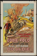 "Movie Posters:Serial, Do or Die (Universal, 1921). One Sheet (27"" X 41"") Episode 3 -- ""The Secret of the Sea."" Serial.. ..."