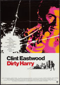 "Movie Posters:Crime, Dirty Harry (Warner Brothers, 1971). German A1 (23.5"" X 33""). Crime.. ..."