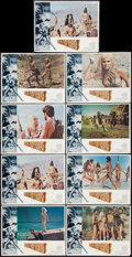 """Movie Posters:Fantasy, When Dinosaurs Ruled the Earth (Warner Brothers, 1970). Lobby Card Set of 8 and Lobby Card (11"""" X 14""""). Fantasy.. ... (Total: 9 Items)"""