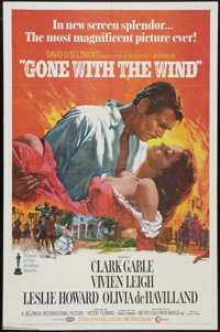 """Gone with the Wind (MGM, R-1968). One Sheet (27"""" X 41""""). Academy Award Winners"""