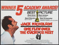 "Movie Posters:Academy Award Winners, One Flew Over the Cuckoo's Nest (United Artists, 1975). British Quad (30"" X 40""). Academy Award Winners.. ..."