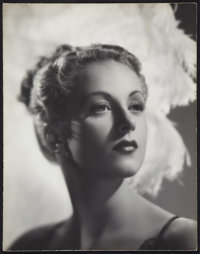 "Danielle Darrieux (Universal, 1938). Exhibition Portrait Photo (16"" X 19""). Miscellaneous"