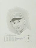 Baseball Collectibles:Others, Mickey Mantle Signed Print. Limited edition (792/1000) work issigned by the artist David Cooney in pencil and by the subj...