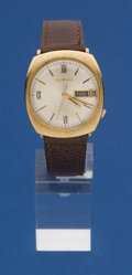 Timepieces:Wristwatch, Bulova 14k Gold 218 Accutron. ...