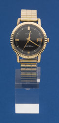 Timepieces:Wristwatch, Longines Gold Top, Steel Back Master Mariner Automatic. ...