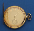 Timepieces:Pocket (post 1900), Swiss 14k Gold 54 mm Hunters Case. ...