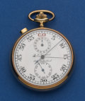 Timepieces:Other , C. L. Guinand 14k Gold Split Second Timer With Register. ...