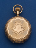 Timepieces:Pocket (pre 1900) , Hampden 14k 6 Size Hunters Case Pocket Watch. ...