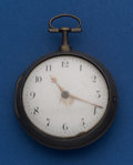 Timepieces:Pocket (pre 1900) , Alexander Hollisone Verge Fusee Silver Pair Case Pocket Watch WithFancy Balance. ...
