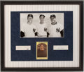 Baseball Collectibles:Photos, Roger Maris, Joe DiMaggio and Mickey Mantle Multi Signed PhotographDisplay....