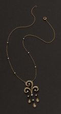 Estate Jewelry:Necklaces, Antique Pearl & Diamond Necklace. ...