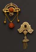 Estate Jewelry:Brooches - Pins, Two Victorian Pins. ... (Total: 2 Items)