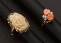 Estate Jewelry:Rings, Two Coral Rings. ... (Total: 2 Items)