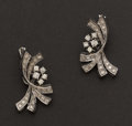 Estate Jewelry:Earrings, Diamond & White Gold Earrings. ...