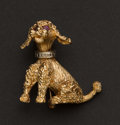 Estate Jewelry:Brooches - Pins, Gold Poodle Pin. ...