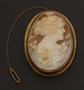 Estate Jewelry:Cameos, Very Fine Large Shell Cameo. ...