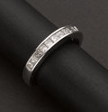 Estate Jewelry:Rings, White Gold Diamond Band. ...