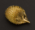Estate Jewelry:Brooches - Pins, Gold Porcupine Pin. ...