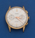 Timepieces:Wristwatch, Swiss 18k Gold Vintage Manual Wind Chronograph. ...