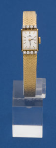 Timepieces:Wristwatch, Bucherer 18k Gold & Diamond Bracelet Wristwatch. ...