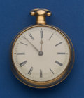 Timepieces:Pocket (pre 1900) , Browne Liverpool Large 18k Gold Lever Fusee Pair Case Pocket WatchFor Repair. ...