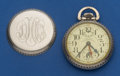 Timepieces:Pocket (post 1900), Waltham 16 Size 23 Jewel Vanguard Pocket Watch With Wind Indicator. ...