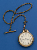 Timepieces:Pocket (post 1900), Hamilton 21 Jewel 992 B Pocket Watch With Chain. ...