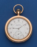 Timepieces:Pocket (post 1900), Hamilton Rare Hayden W. Wheeler Private Label Made For Thomas J. Morrow Holyoke Mass., 17 Jewel 16 Size In A Heavy Unmarked Go...