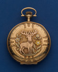 Timepieces:Pocket (post 1900), Waltham 14k Gold 16 Size Multi-Color Hunter's Case Pocket Watch....