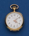 Timepieces:Pocket (post 1900), Tiffany & Co. Very Rare 18k Gold 22.5 mm Miniature PocketWatch. ...