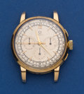 Timepieces:Wristwatch, Omega 18k Gold Vintage Chronograph Unfortunately With A ReplacementQuartz Movement. ...