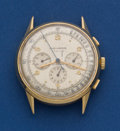 Timepieces:Wristwatch, Movado 18k Gold 3 Register Chronograph For Restoration. ...