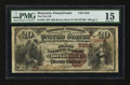 National Bank Notes:Pennsylvania, Monessen, PA - $20 1882 Brown Back Fr. 504 The First NB Ch. #(E)5253. ...