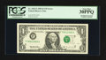 Error Notes:Shifted Third Printing, Fr. 1922-F $1 1995 Federal Reserve Note. PCGS Very Fine 30PPQ.. ...