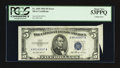 Error Notes:Foldovers, Fr. 1655 $5 1953 Silver Certificate. PCGS About New 53PPQ.. ...