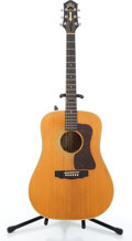 Musical Instruments:Acoustic Guitars, 1987 Guild D-50 Natural Acoustic Electric Guitar #D50003....
