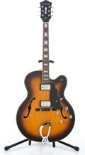Musical Instruments:Electric Guitars, Reissue DeArmond X155 Sunburst Semi-Hollow Body Electric Guitar#KC9050704....