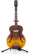Musical Instruments:Acoustic Guitars, Vintage Harmony Hollywood Two-Tone Archtop Acoustic Guitar#1296H39....