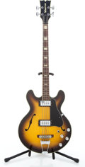 Musical Instruments:Bass Guitars, Vintage Voxton Semi-Hollow Body Sunburst Electric 4-String Bass Guitar #N/A....