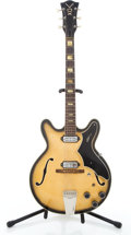 Musical Instruments:Electric Guitars, Mid 1960's Vox Lynx Sunburst Semi-Hollow Body Electric Guitar #10201....