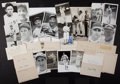 Baseball Collectibles:Others, Baseball Stars Signed Index Cards and Photographs Lot of 18 andAdditional Unsigned Images....