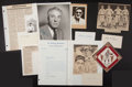 Baseball Collectibles:Others, Baseball Stars and Notables Signed and Unsigned Memorabilia Lot -With Dizzy Dean Signed Index Card!...