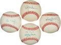 Baseball Collectibles:Balls, Yankees Greats Signed Baseballs Lot of 4....